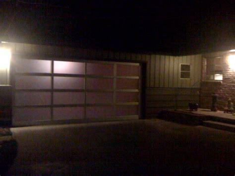 alumaview at night - Garage Doors