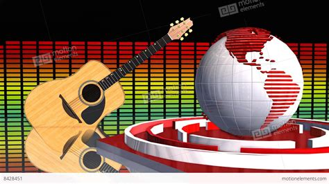 Global News Music Update Broadcast Television 3d Animation