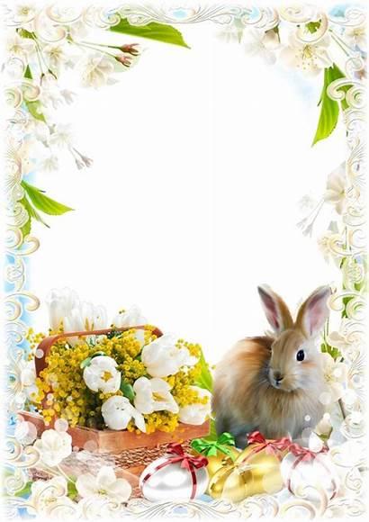 Easter Frame Frames Transparent Spring Psd Photoshop