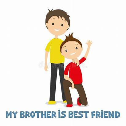 Brothers Together Happy Background Vector Illustration