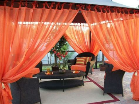patio pizazz outdoor gazebo sheer drapes  panels