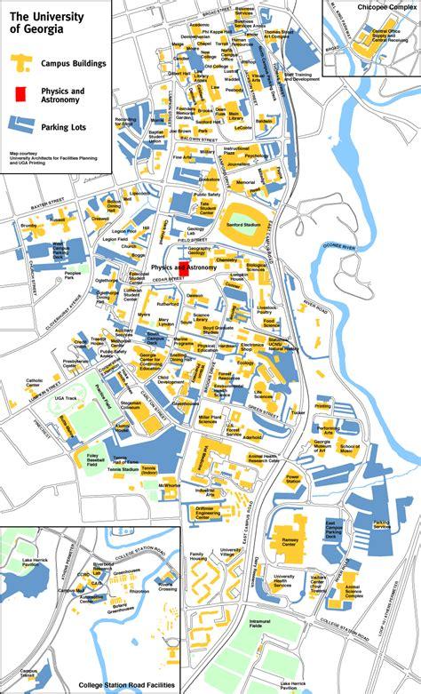 uga physics  astronomy campus map