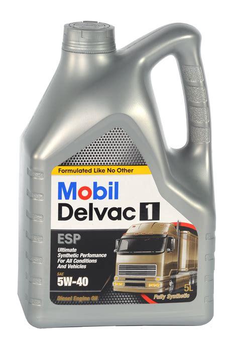 mobil delvac mobil delvac 1 esp 5w40 4 x 5 lt synthetic diesel