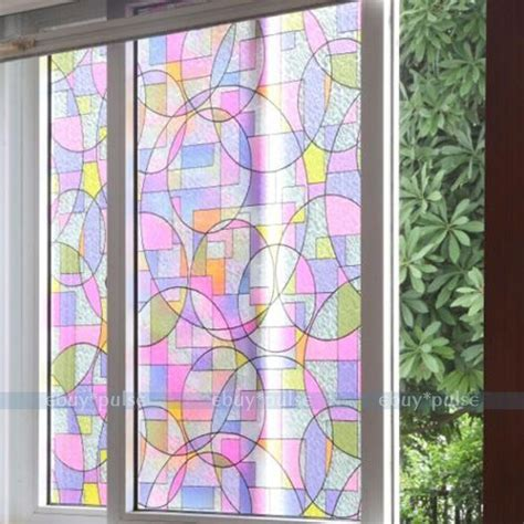 Decorative Window Stained Glass - removable stained glass window decorative home office