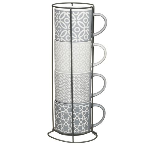 jumbo embossed stacking mugs pk mugs dining bm