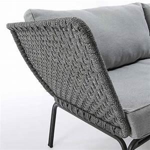 Gartenbänke Aus Metall : dreisitziges gartensofa aus metall in modernem design erminia ~ Whattoseeinmadrid.com Haus und Dekorationen