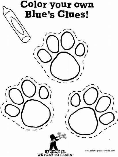 Clues Blues Coloring Pages Cartoon Paw Birthday