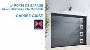 porte de garage sectionnelle carree grise 654035 With porte de garage castorama