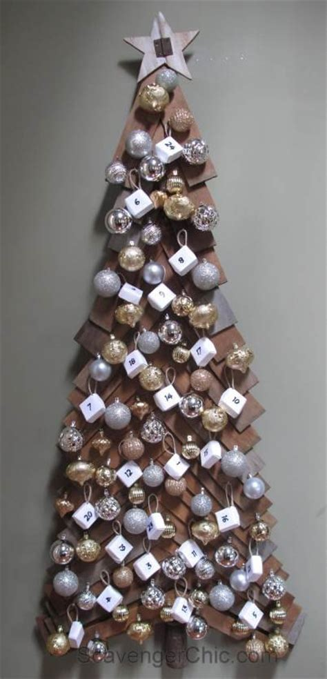decorative wooden christmas trees diy wood christmas tree and advent calendar hometalk