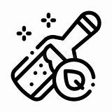 Elixir Icon Outline Symbol Organic Bottle Linear Medieval Thin Line sketch template