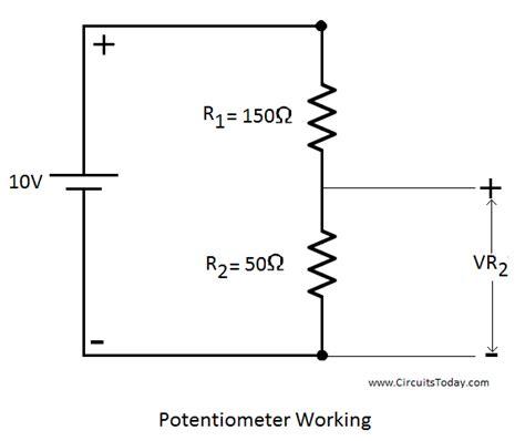 potentiometer working circuit diagram construction types