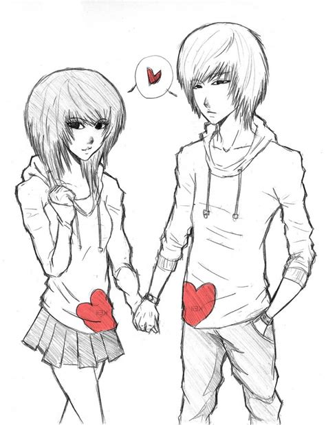 anime couple draw cute anime couples drawings pencil art drawing