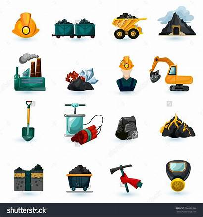 Mining Vector Icons Clipart Coal Industry Minerals