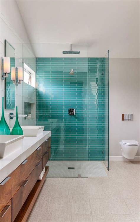 blue bathroom tile ideas 40 blue glass bathroom tile ideas and pictures