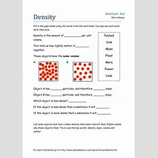 An Introduction To Density By Oliviacalloway  Teaching Resources Tes