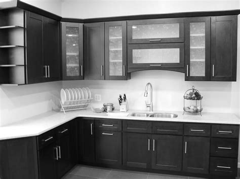 glass kitchen doors cabinets black glass kitchen cabinet doors image to u 3795