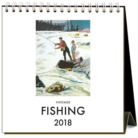 where to buy cardstock buy fishing 2018 easel calendar by found image press