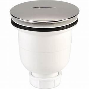 Bonde De Douche : bonde de douche 90 mm capot abs chrom sortie ~ Melissatoandfro.com Idées de Décoration