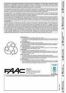 Faac 844 With 780d Control Panel Compact Slide Gate Openers Installation Manual Service Manual