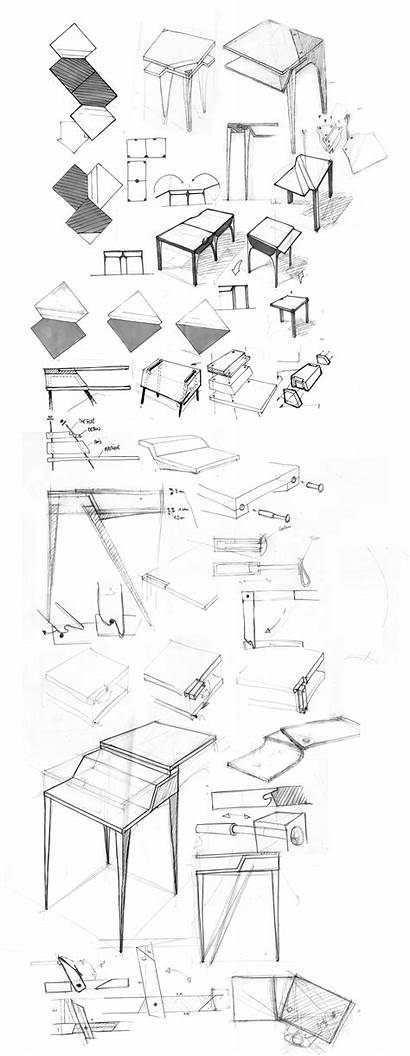 Sketch Furniture Sketches Industrial Table Behance Sketching