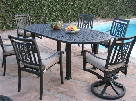 Restaurant Patio Furniture by New 7 Outdoor Patio Furniture Aluminum Dining Set Ao