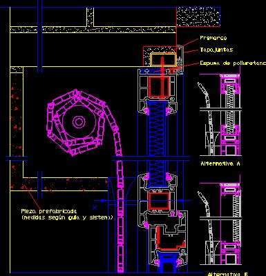 window  scrolling blind detail dwg detail  autocad