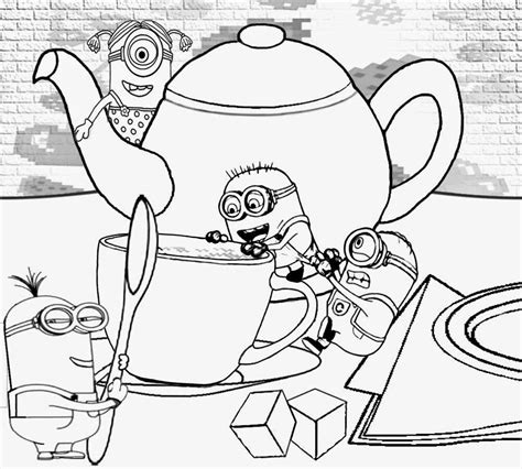 decorative teapot coloring pages   print