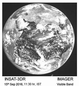 First Images From Insat-3dr Imager