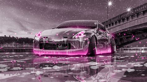 nissan  tuning crystal city ice snow car