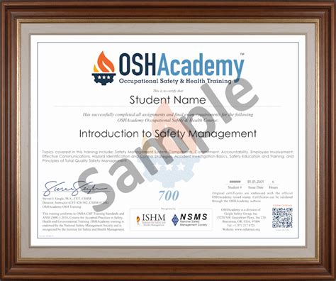 oshacademy  hour osh professional program