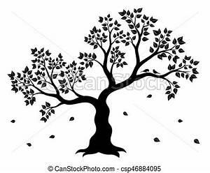 Stickers Arbre Noir : sticker couleur feuilles arbre deux illustration vecteurs eps rechercher des clip ~ Teatrodelosmanantiales.com Idées de Décoration
