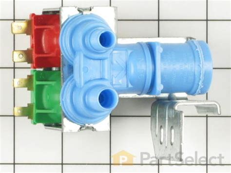 whirlpool wp icemaker  water dispenser dual inlet valve partselect