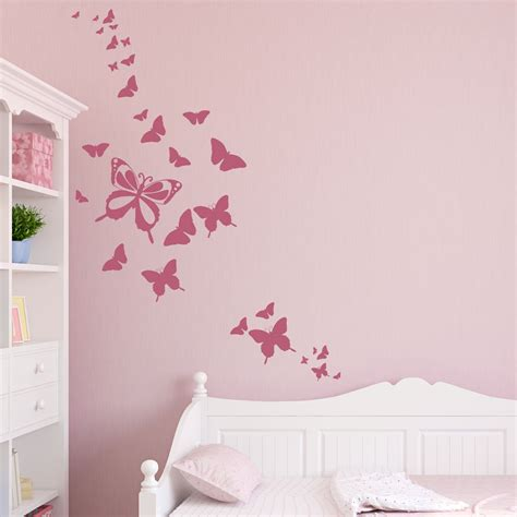 stickers muraux chambre adulte butterfly wall decals 2017 grasscloth wallpaper