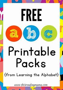 free abc printable packs learning the alphabet abc With letters for toddlers to learn
