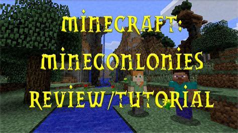 Minecraft Minecolonies Reviewtutorial Youtube