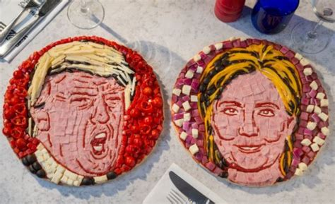political pizza art pizza face