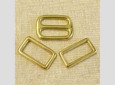 Brass Slide Buckle 2 Rectangle Link Combo 1 183627000452