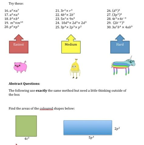 rules of indices worksheet solve my maths