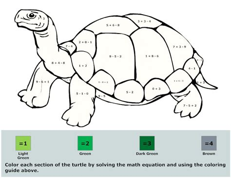 coloring pages coloring math activity  math