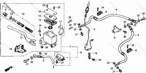 Honda Atv 1987 Oem Parts Diagram For Front Brake Master