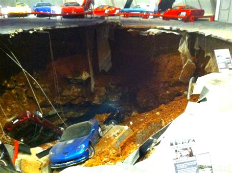 corvette museum sinkhole location porsche charged in corvette museum sinkhole and frame up