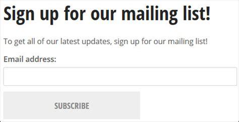 add  mailman subscription widget web resources