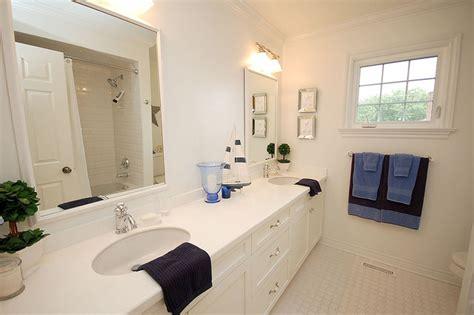 Kids Bathroom White And Blue-traditional-bathroom