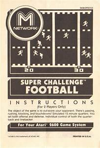 Atari 2600 Vcs Football   Scans  Dump  Download