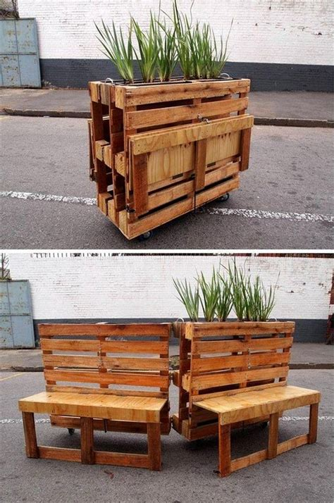 pallet wood outdoor ideas upcycle art