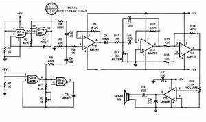 Single Chip Theremin Circuit Diagram