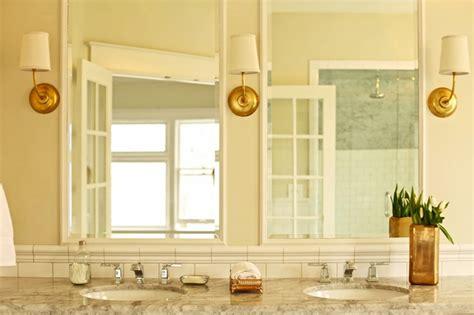 super white quartzite transitional bathroom benjamin