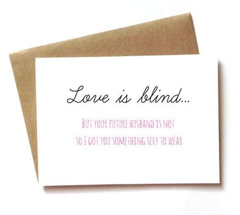bridal shower card wedding shower card  bachelorette party card love  blind eye