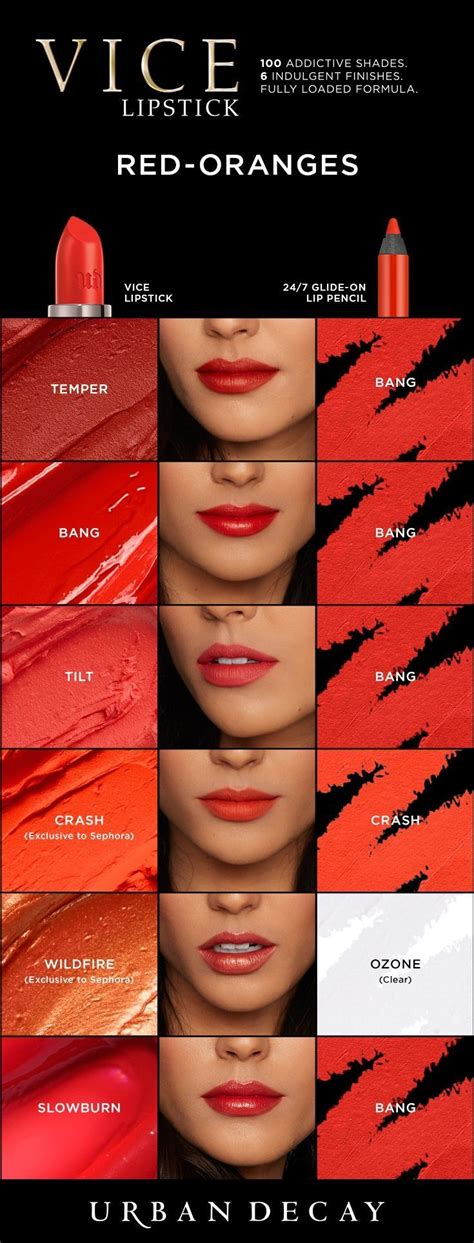 urban decay vice lipsticks oranges en  maquillaje