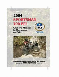 Sportsman 700 Efi Manuals